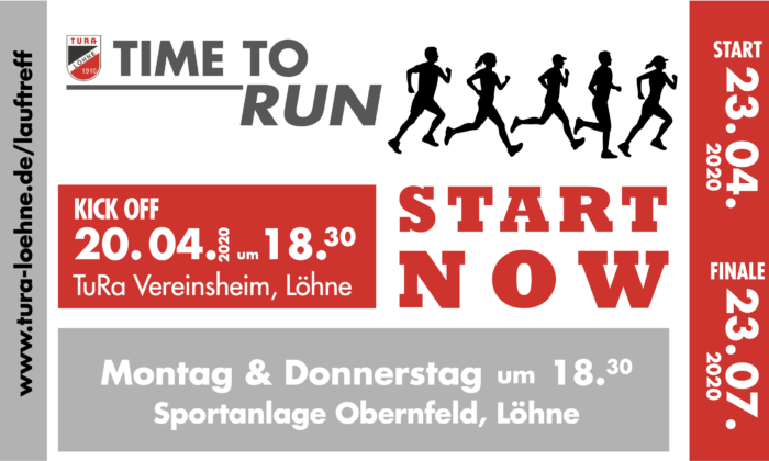 TIME TO RUN – START NOW