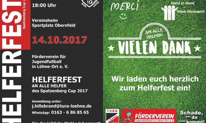 Einladung Helferfest Spatzenberg Cup 2017