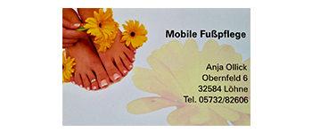 Mobile Fusspflege Anja Ollick